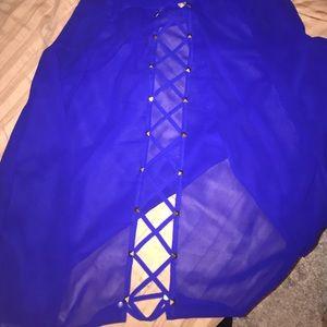 Beautiful Royal Blue Button down